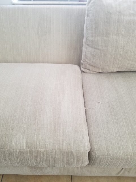 image of couch for sonshine carpet cleaning