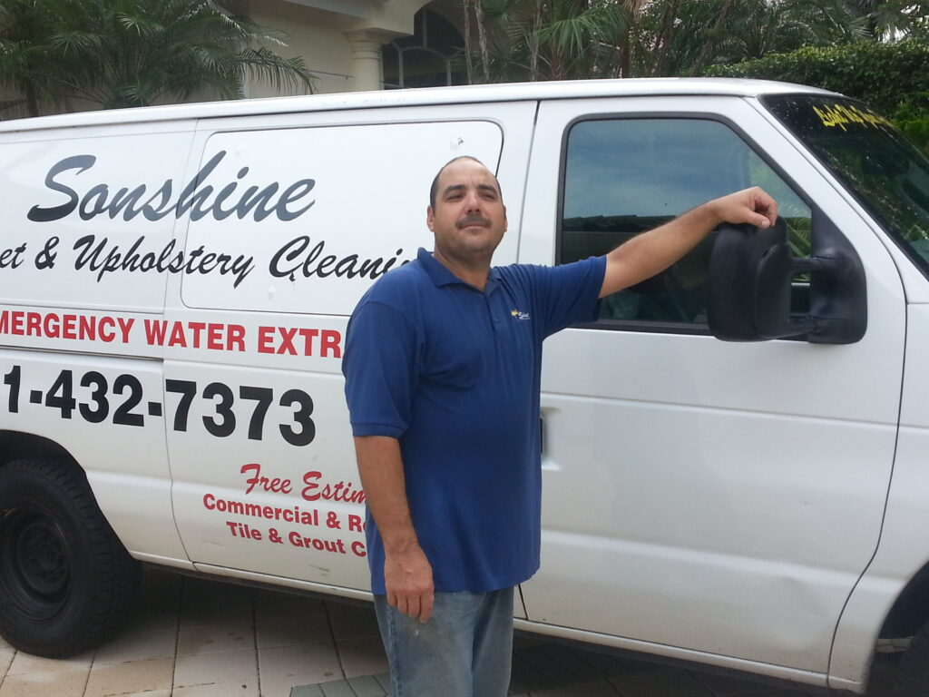 image of van for sonshine carpet cleaning